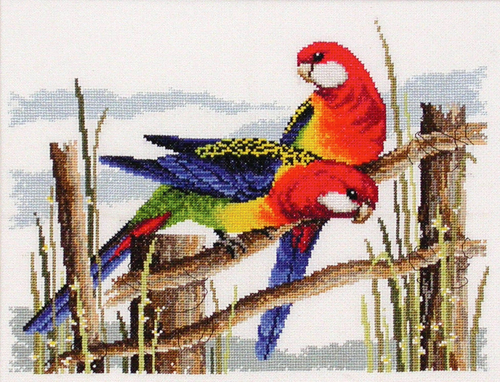 Eastern Rosellas - Country Threads Cross Stitch Chart Booklet