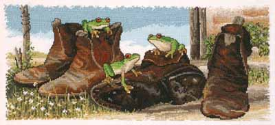 Frogs in Boots - A Country Threads Cross Stitch Booklet