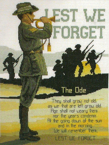 ANZACS - Lest We Forget - a Country Threads counted Cross Stitch chart