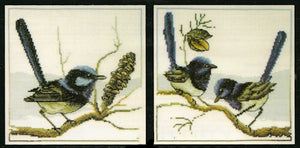 Blue Wrens - a Country Threads counted Cross Stitch chart