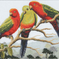 King Parrots - Country Threads Cross Stitch Chart Booklet