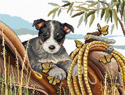 Saddle Up Bluey - A Country Threads Cross Stitch Kit