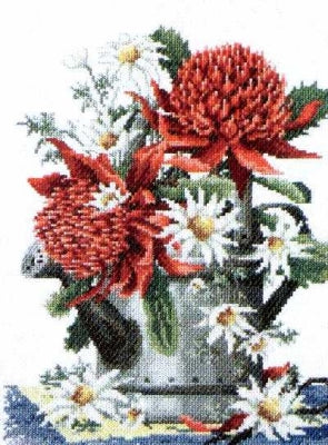 Waratahs and Flannel Flowers - A Country Threads Cross Stitch chart