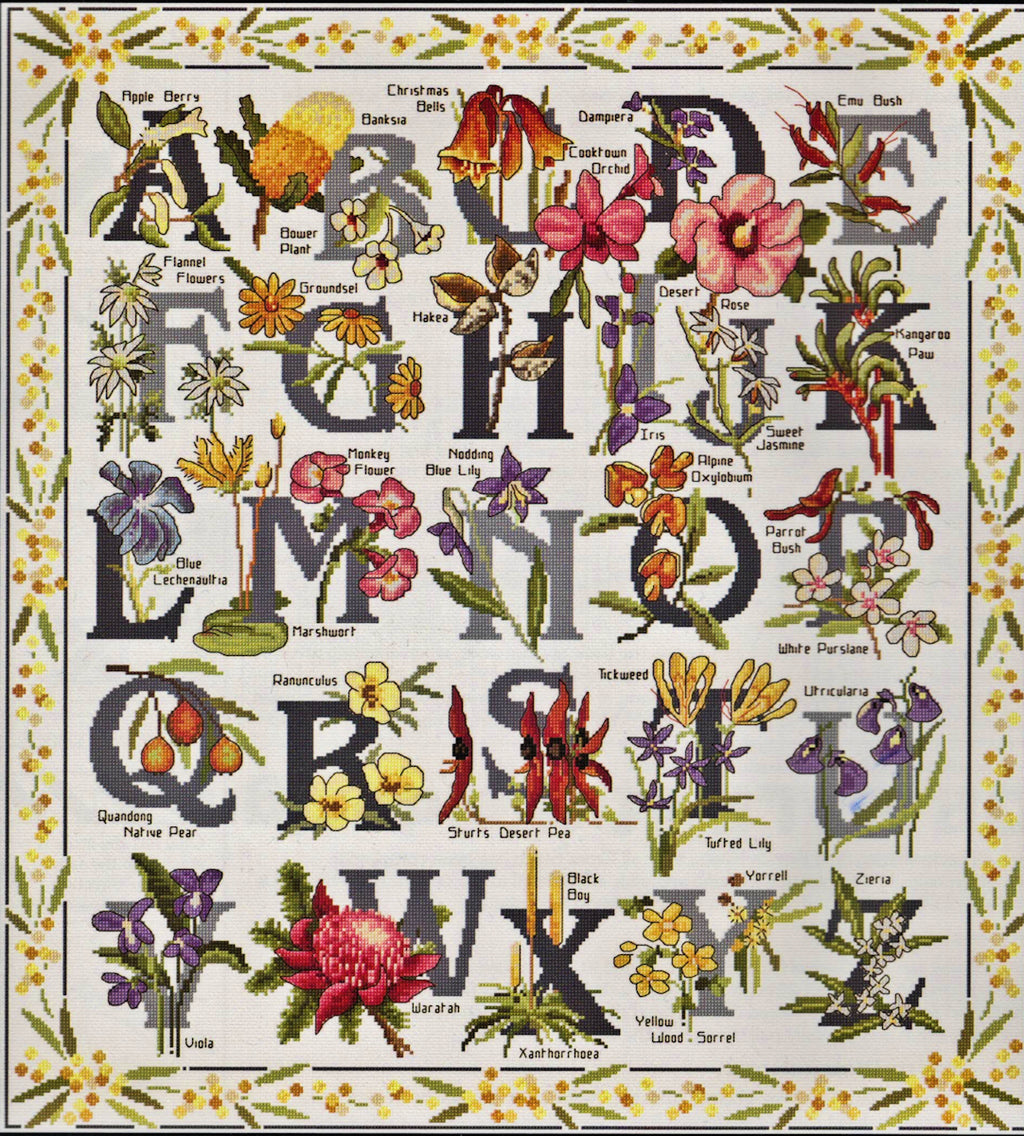 Australian Wildflower Sampler - A Country Threads Cross Stitch Kit