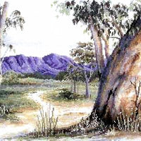 Outback Gum - A Country Threads Cross Stitch Chart