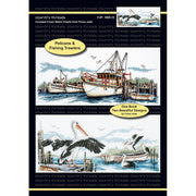 Fishing Trawlers and Pelicans - A Country Threads Cross Stitch Chart Booklet