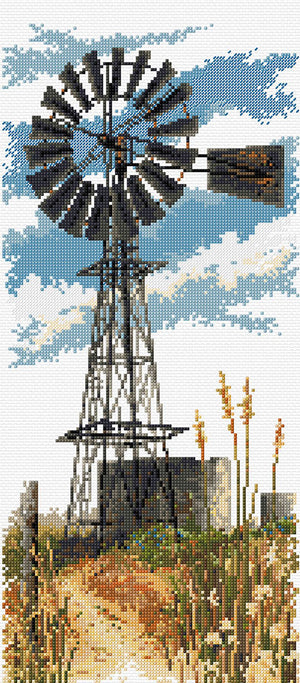 Windmill - A Country Threads Cross Stitch Chart Booklet
