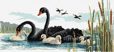 Black Swans - Country Threads Cross Stitch Chart Booklet
