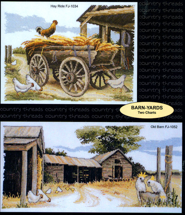 Barn Yards - A Country Threads Cross Stitch Chart Booklet