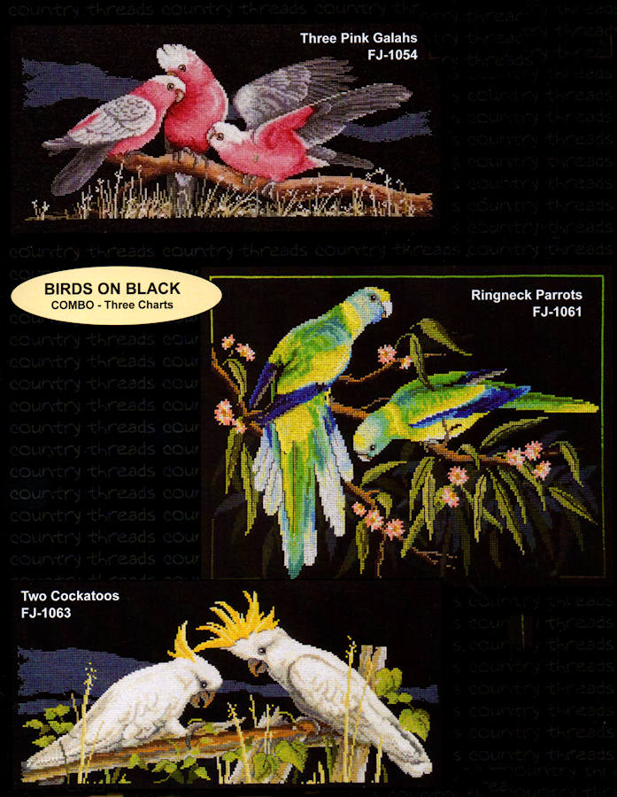 Birds on Black - A Country Threads Cross Stitch Booklet