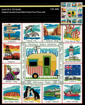 Grey Nomads - A Country Threads Cross Stitch Booklet