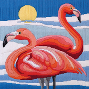 Flamingos - A Country Threads Longstitch kit