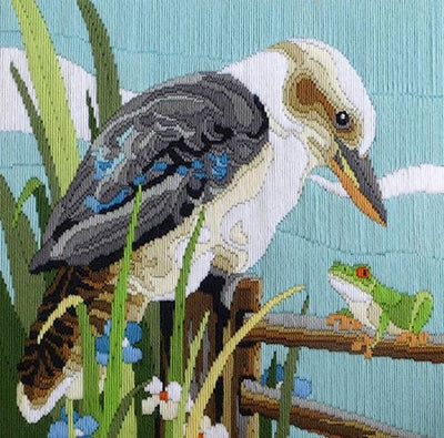 Kookaburra with Frog - A Country Threads Longstitch kit