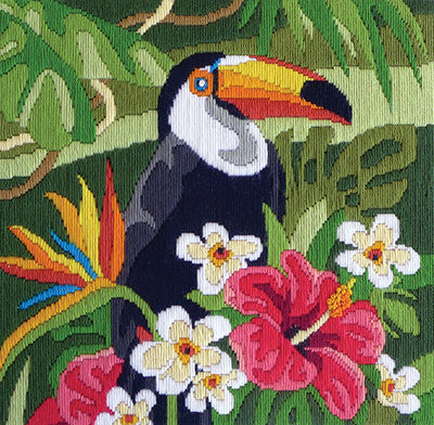 Tropical Toucan - A Country Threads Longstitch kit