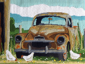 Rusty Old Car - A Country Threads Longstitch kit