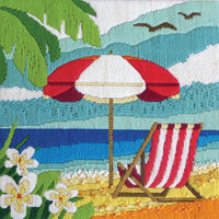 Lazy Days Beach Chair - A Country Threads Longstitch kit