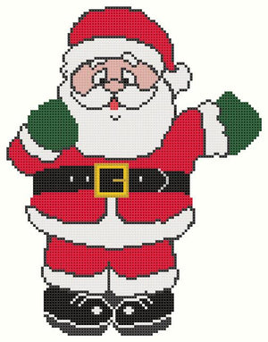 Father Christmas Free Downloadable Cross Stitch Design - stitchaphoto