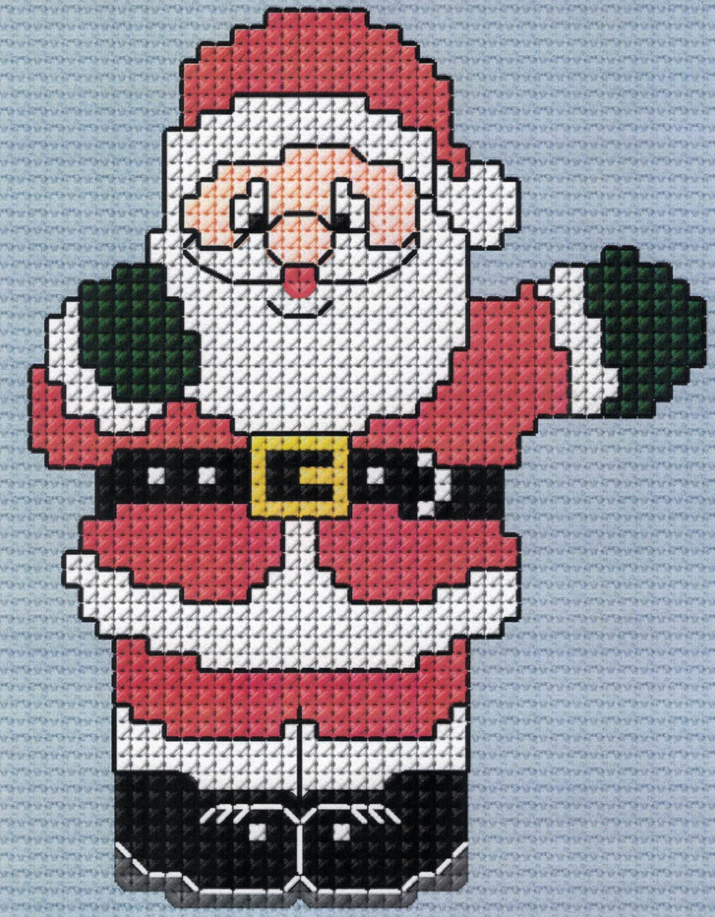 Father Christmas Free Downloadable Cross Stitch Design Smaller Version