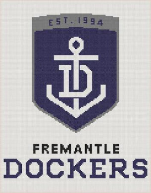Fremantle Dockers AFL Logo Cross Stitch Design - stitchaphoto