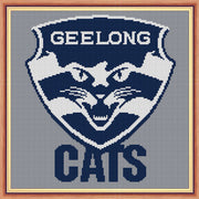 Geelong Cats AFL Logo Cross Stitch Design