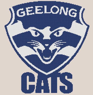 Geelong Cats AFL Cross Stitch Design - stitchaphoto