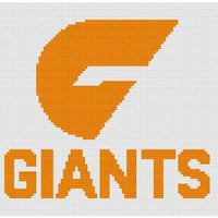GWS Giants AFL Cross Stitch Design - stitchaphoto