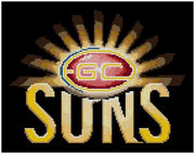 Gold Coast Suns AFL Cross Stitch Design - stitchaphoto