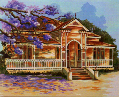 Old Timber House - An Australian Themed Tapestry Canvas