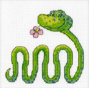 Snake with Flower - A RTO cross stitch Kit