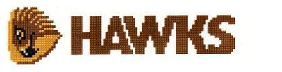 Hawthorn Hawks AFL Logo Cross Stitch Design for a Bookmark - stitchaphoto