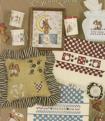 A Little bit of Bow-Wows - A cross stitch pattern book from Jeanette Crewes Designs