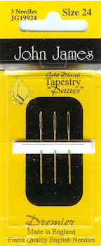 Short Cross Stitch/Tapestry Needles Gold Plated
