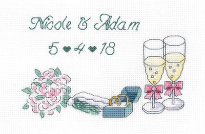 Wedding Day Announcement - A Cross Stitch Kit from Janlynn