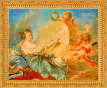 Allegory of Painting - A Kustom Krafts counted cross stitch chart