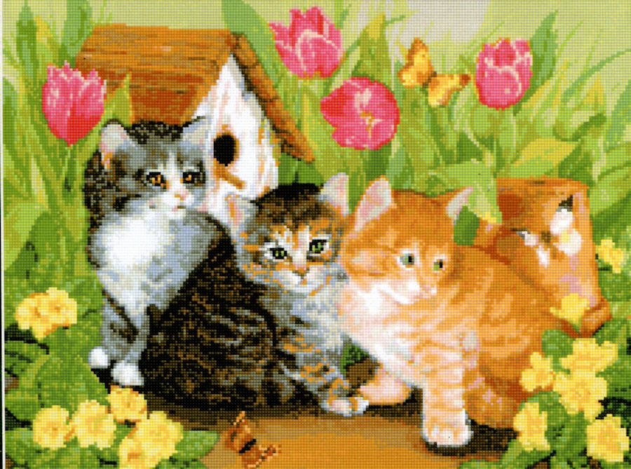 Kitties - a Kustom Kraft cross stitch chart
