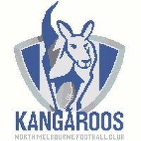 North Melbourne Kangaroos AFL Cross Stitch Design - stitchaphoto