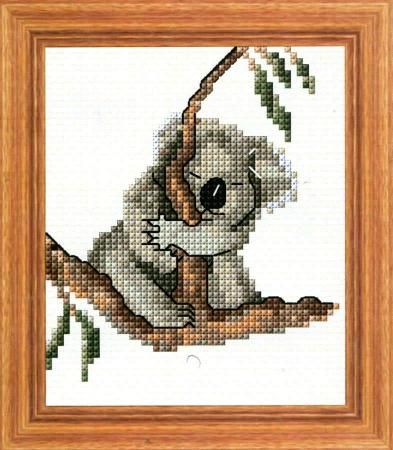 Hang On Koala Cross Stitch Design - stitchaphoto