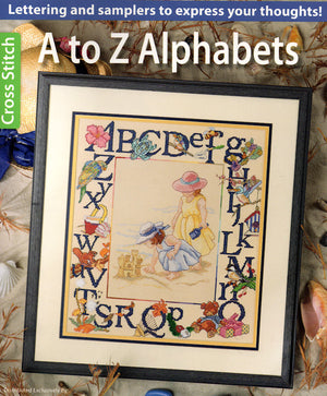 A to Z Alphabets - A Leisure Arts cross stitch booklet