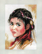 Young Squaw - A Lanarte cross stitch Kit