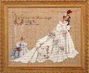 The Wedding - a Lavender and Lace cross stitch chart