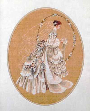 The Bride - a Lavender and Lace cross stitch pattern