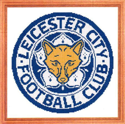 Leicester City FC Cross Stitch Design - stitchaphoto