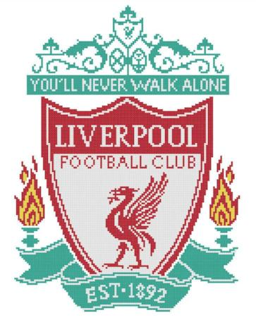 Liverpool FC Cross Stitch Design - stitchaphoto