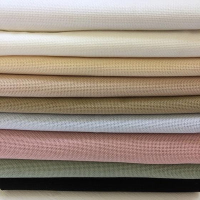 Lugana 25 count by Zweigart in Various Colours