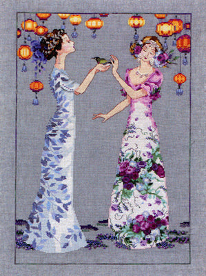 The Garden Party  - a Mirabilia cross stitch chart