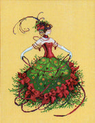 Miss Christmas Eve  - a Mirabilia cross stitch chart