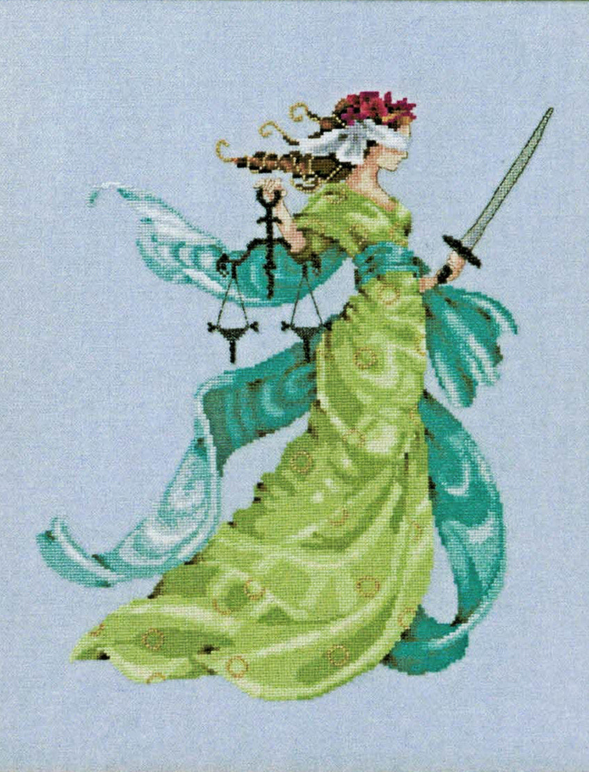 Lady Justice - A Mirabilia cross stitch chart MD160