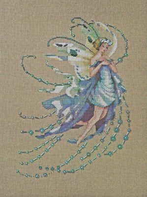 December Blue Topaz Fairy - A Mirabilia cross stitch chart MD162