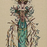 Cathedral Woods Goddess - A Mirabilia cross stitch chart MD164