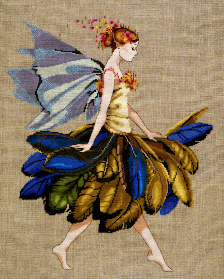 The Feather Fairy  - a Mirabilia cross stitch chart